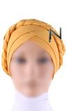 Turban Mütze CT34 gekreuzt und geflochten
